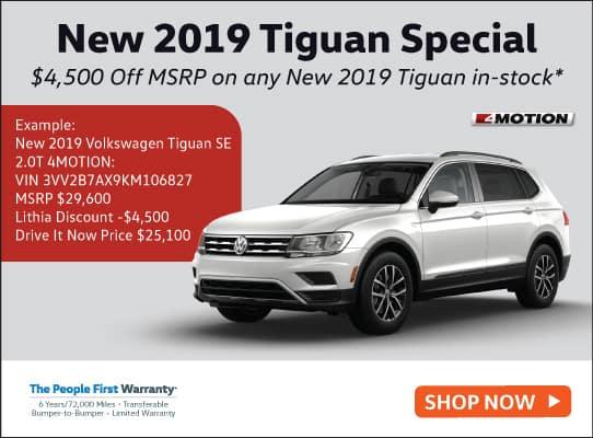 New 2019 Volkswagen Tiguan 2.0T SE 4MOTION AWD