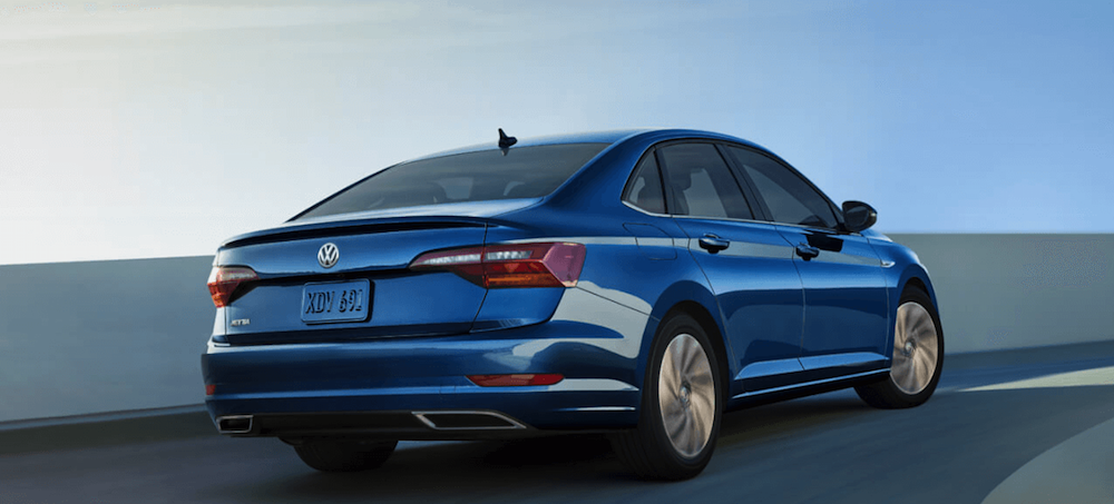 2019 VW Jetta driving on highway
