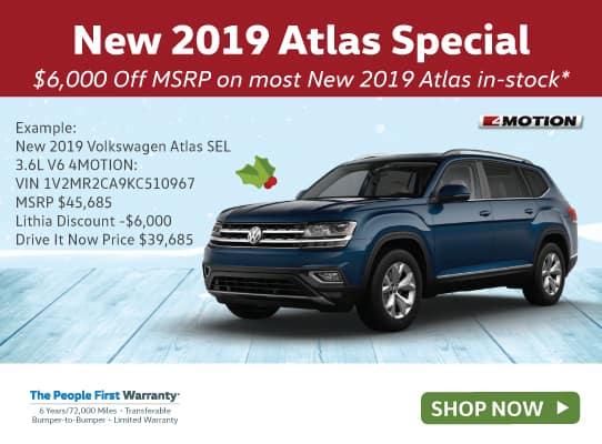 New 2019 Volkswagen Atlas 3.6L V6