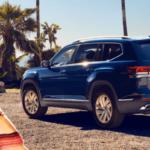 2021 Volkswagen Atlas S configuration parked near campfire