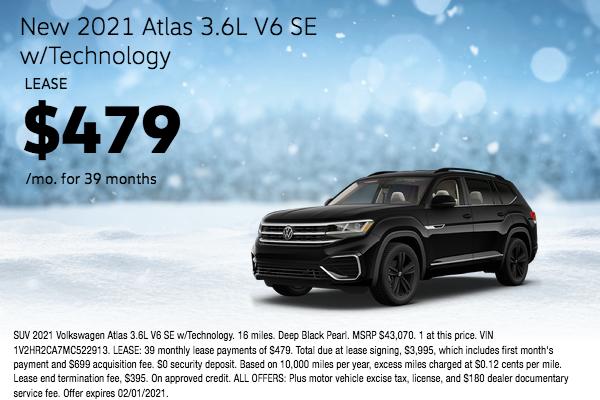 New 2021 Atlas 3.6L V6 SE