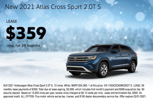 New 2021 Atlas Cross Sport 2.0T S