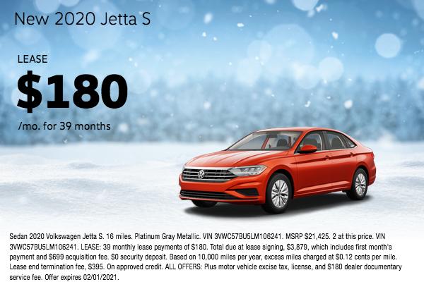 New 2020 Jetta S