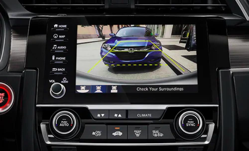 2019 Honda Civic rearview camera view