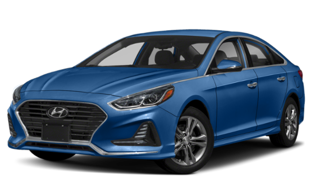 2019 Hyundai Sonata in blue