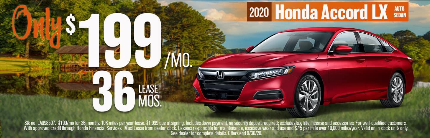 2020 HONDA ACCORD LX - NO LOGO
