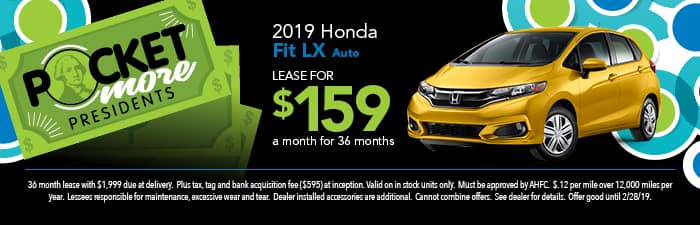 2019 Fit Lease Special