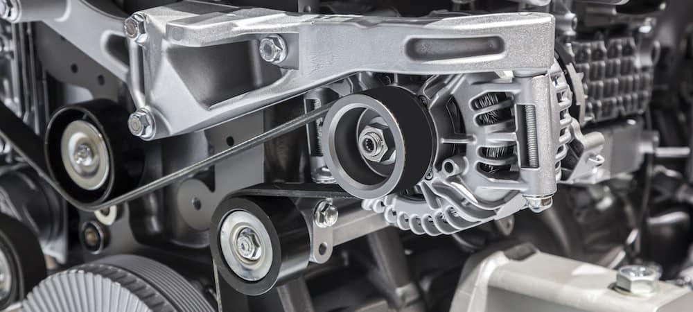 Alternator in engine