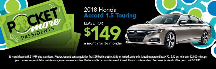 2018 Accord 1.5 Touring Lease Special