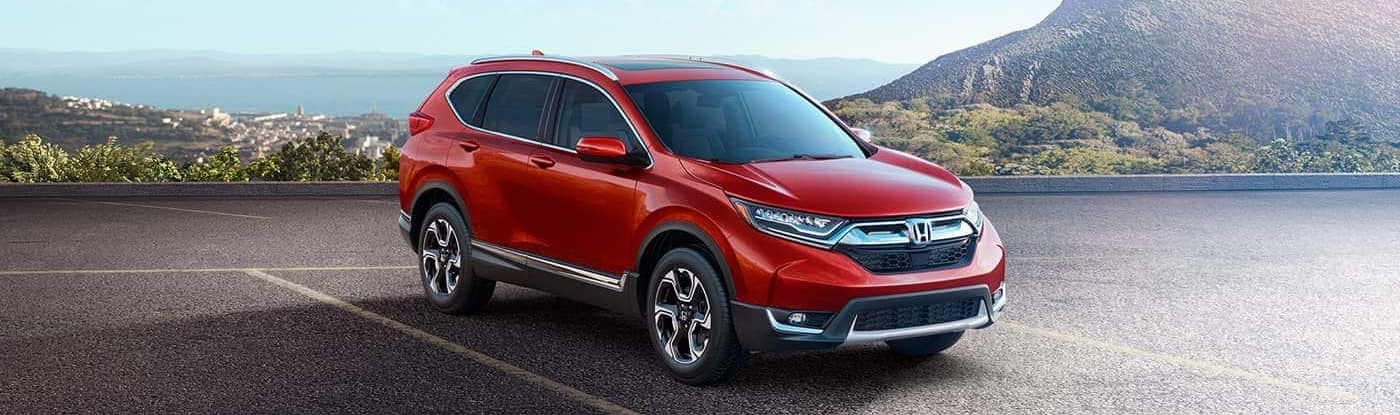 2019 Honda CR-V Touring in red with awd