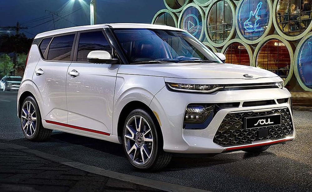 2020 Kia Soul exterior in white