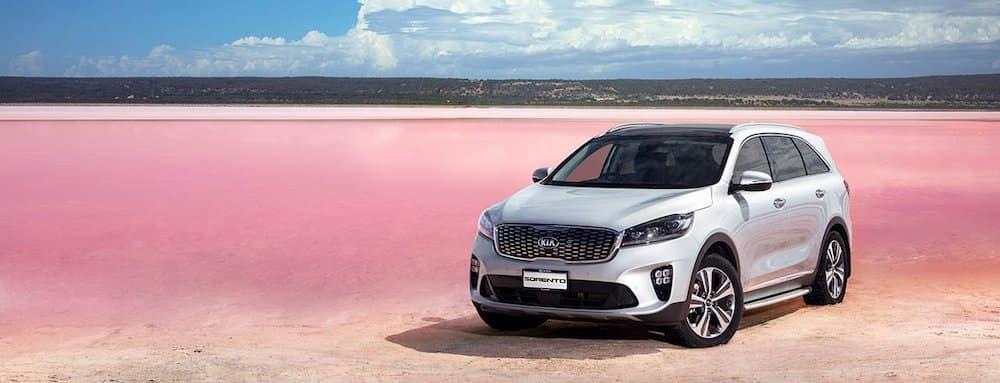 2019 Kia sorento in silver on salt plains