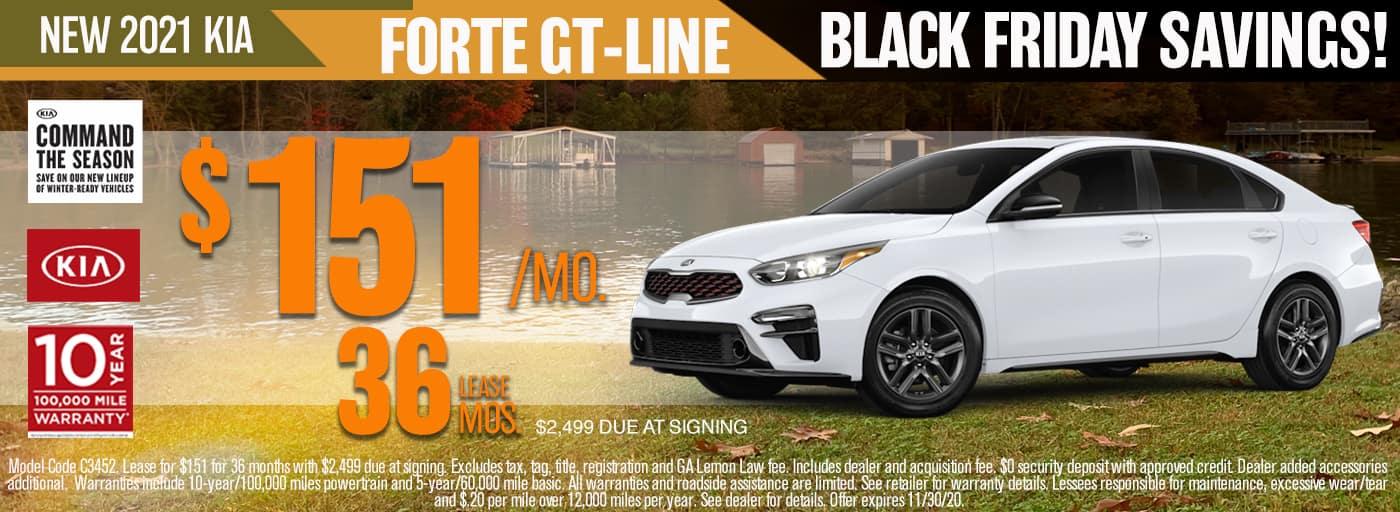 2021 KIA FORTE GT LINE HERO BANNER Black