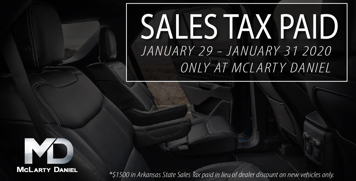 Sales Tax Paid On New Vehicles at McLarty Daniel