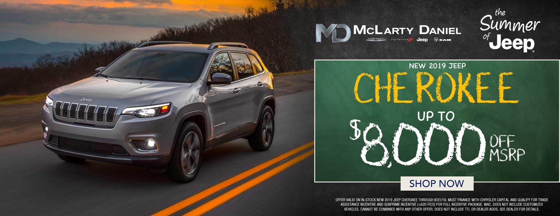 2019 Jeep Cherokee $8,000 off msrp