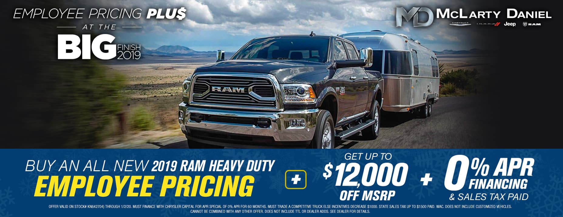 GET UP TO $12,000 OFF NEW RAM HEAVY DUTIES PLUS 0% FINANCING PLUS SALES TAX PAID!