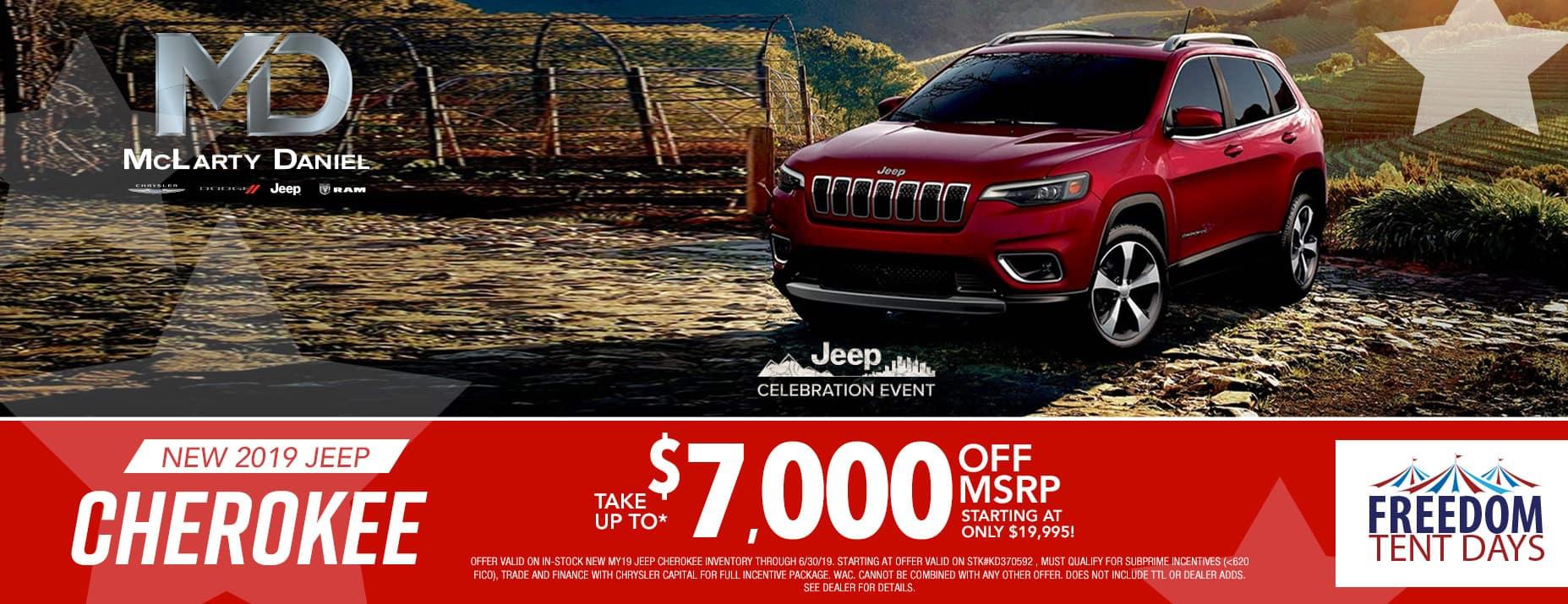 2019 Cherokee$7000 Off MSRP