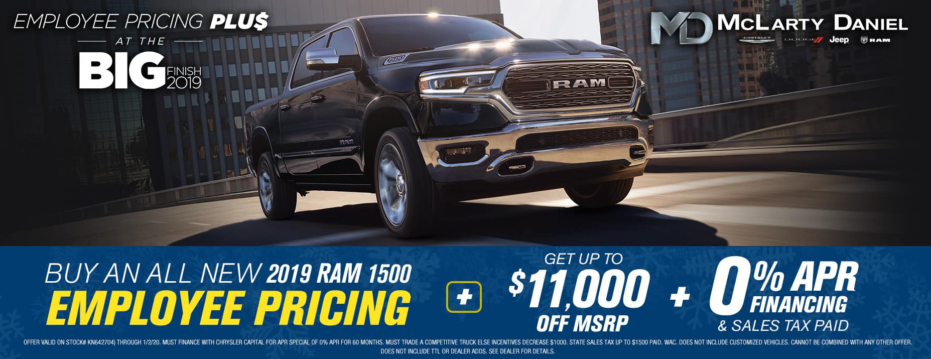 2019 Ram 1500 - Up to $11,000 off msrp -PLUS- 0% APR financing!