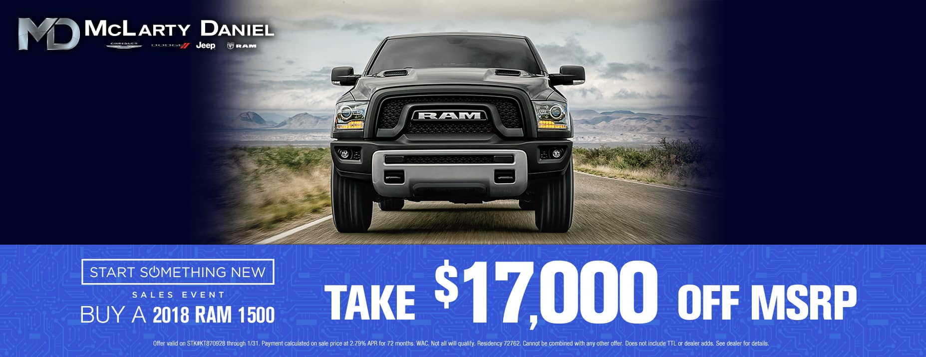 Take $17,000 off new RAM 1500!