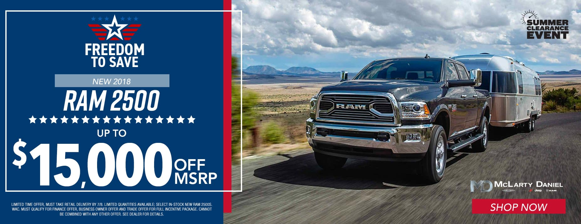 2018 Ram 2500, up to $15,000 off MSRP.