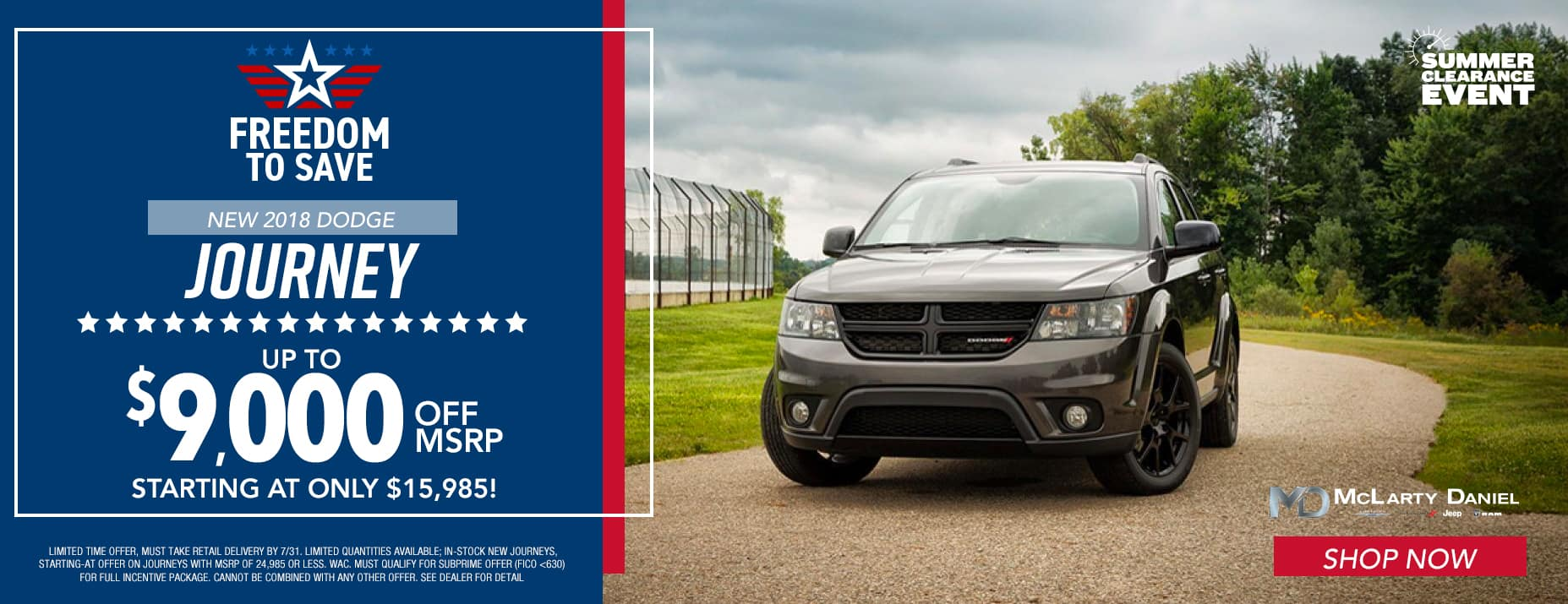 New 2018 Dodge Journey $9,000 Off MSRP