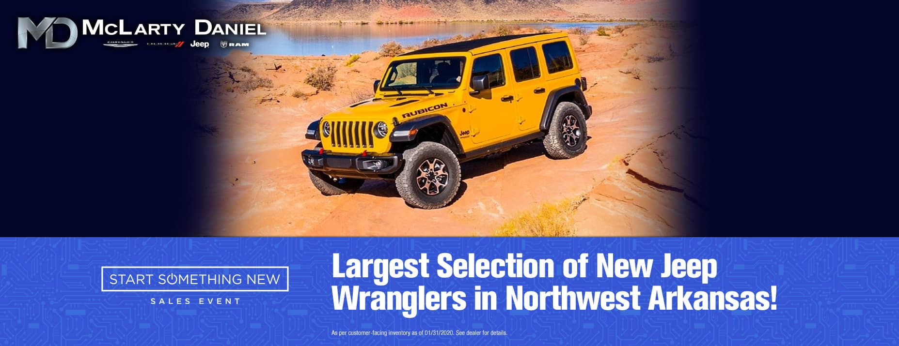 Largest Selection of New Jeep Wranglers in Northwest Arkansas!