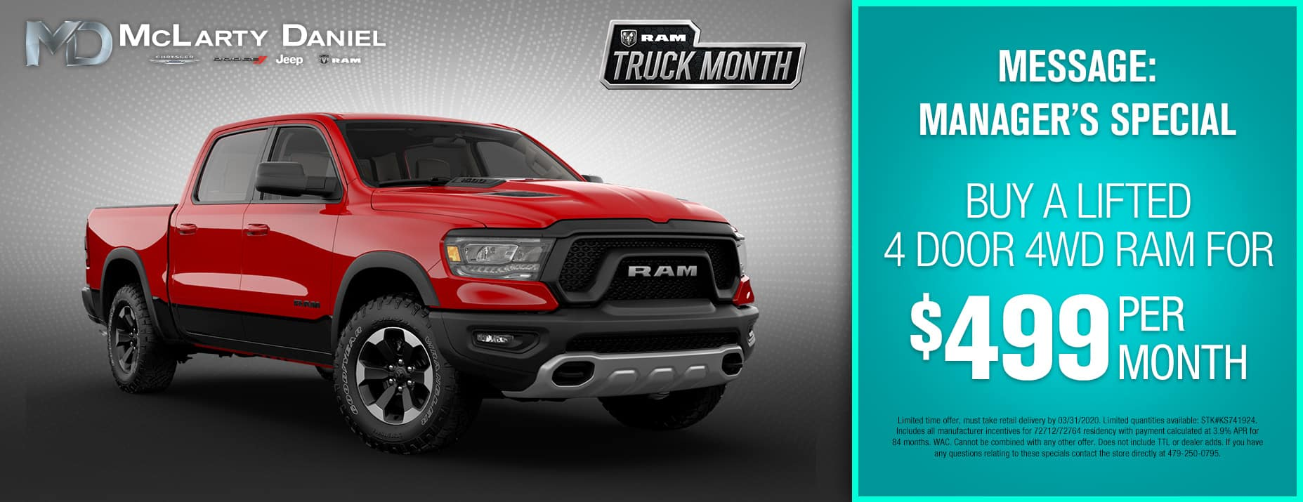 2019 Ram 1500 Buy For $499 Per Month