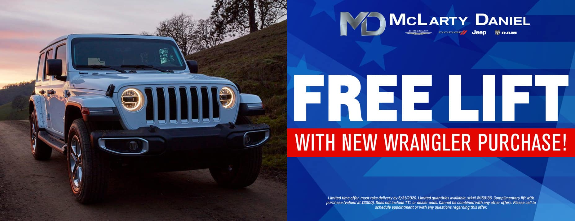 Free lift with new Wrangler purchase!