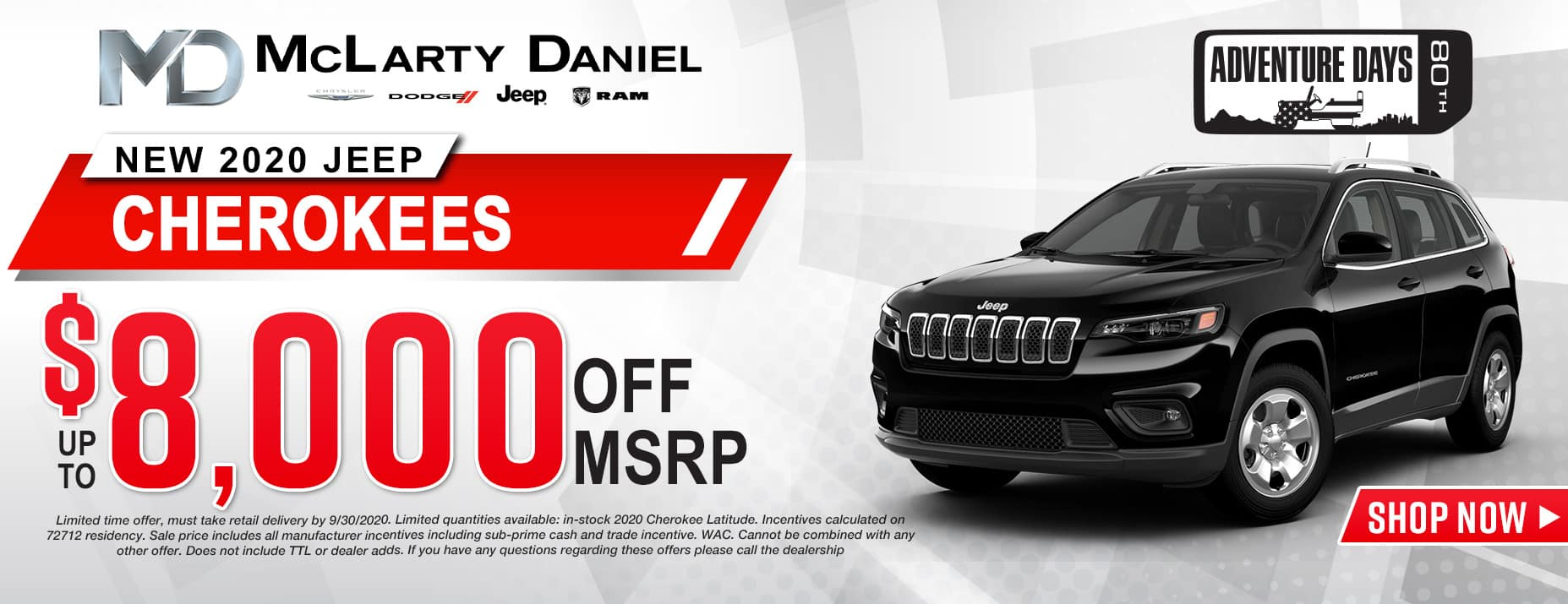 2020 JEEP CHEROKEES - UP TO $8,000 OFF!