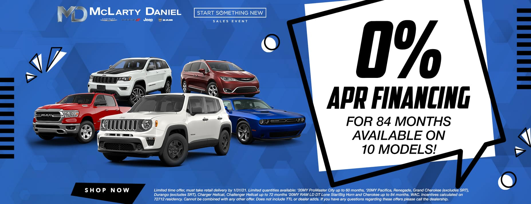 0% APR for up to 84 months available on 10 models!