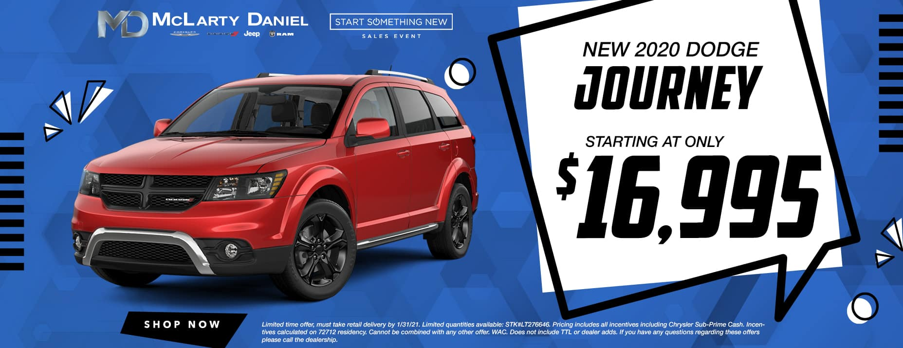 NEW 2020 JOURNEY STARTING AT ONLY $16,995!