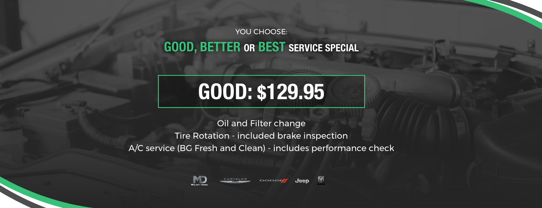 You Choose Service Special: Good