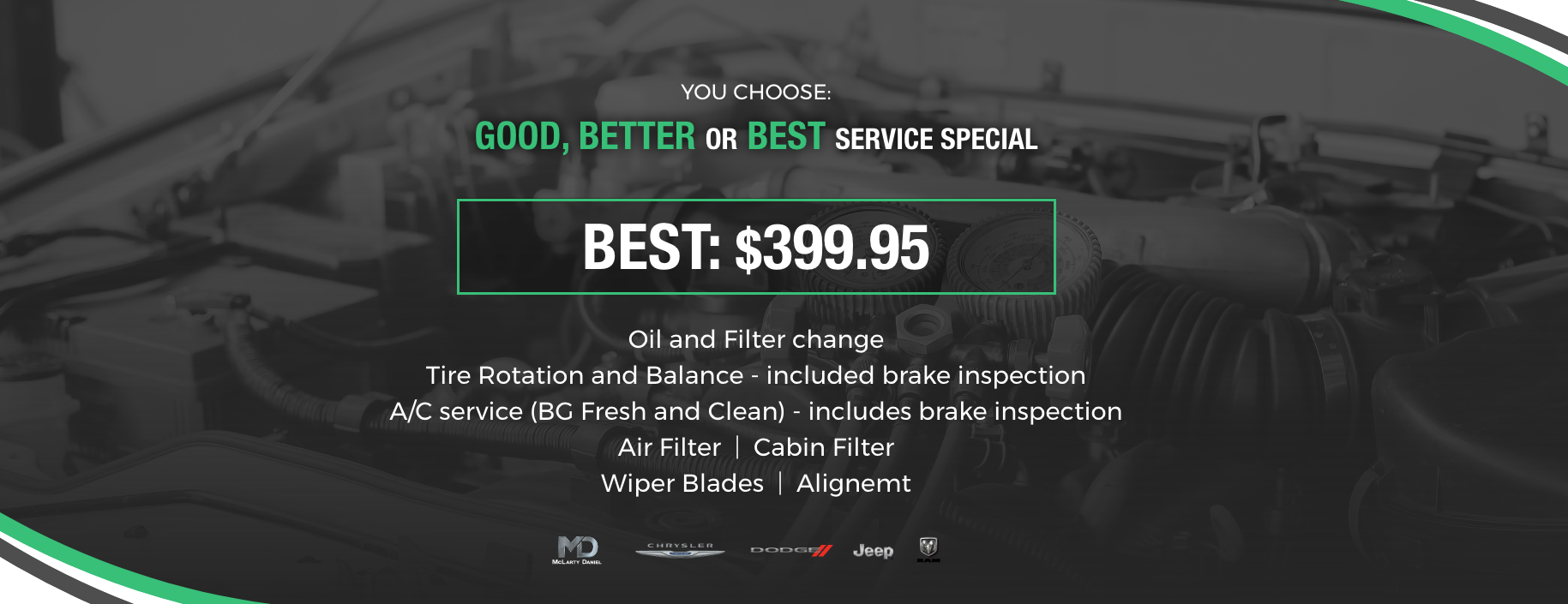 You Choose Service Special: Best