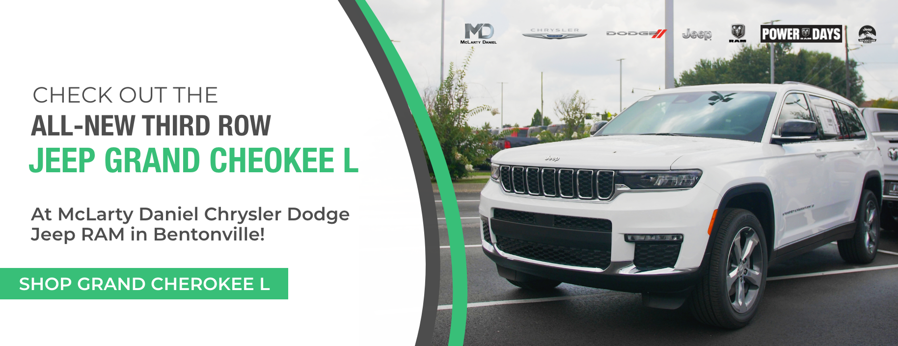 Check out the all-new third row Jeep Grand Cherokee L at McLarty Daniel Chrysler Dodge Jeep RAM in Bentonville!
