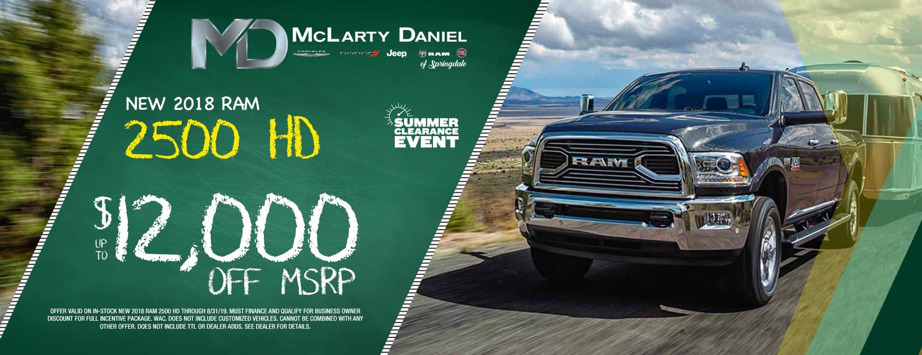 2018 Ram 2500$12,000 off msrp