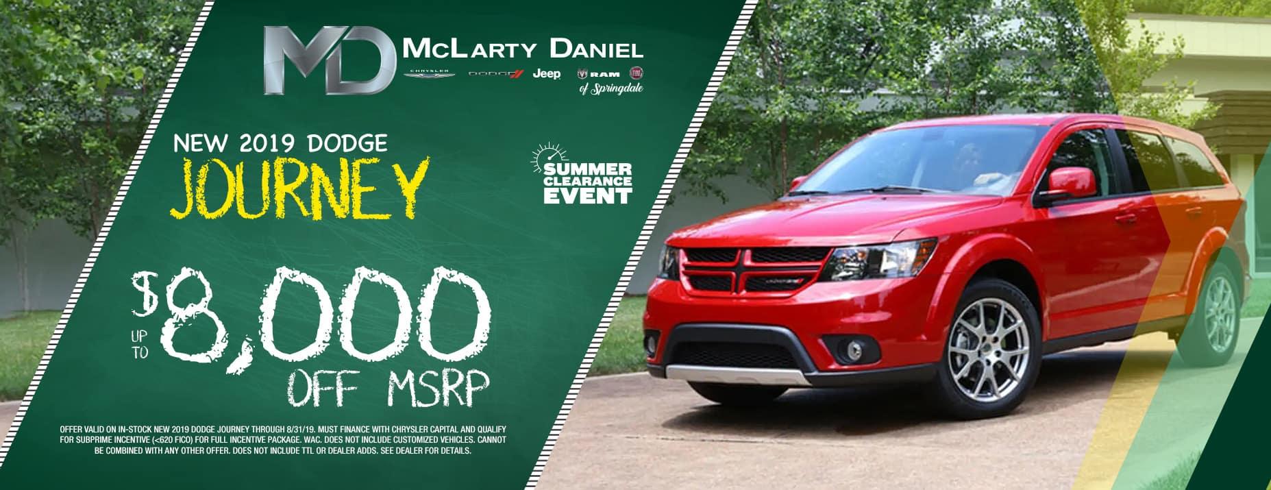 2019 Dodge Journey $8,000 off msrp