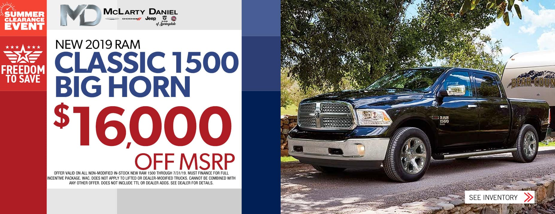 2019 Ram 1500 $16,000 OFF MSRP