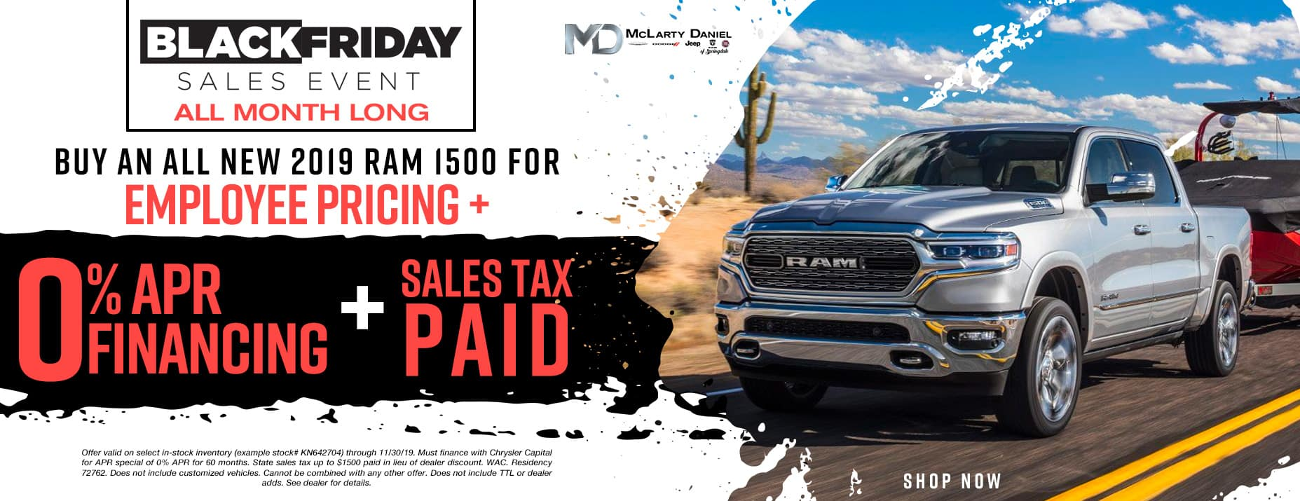 EMPLOYEE PRICING FOR EVERYONE! BUY AN ALL NEW 2019 RAM 1500 FOR EMPLOYEE PRICING -PLUS- 0% APR -PLUS- SALES TAX PAID!