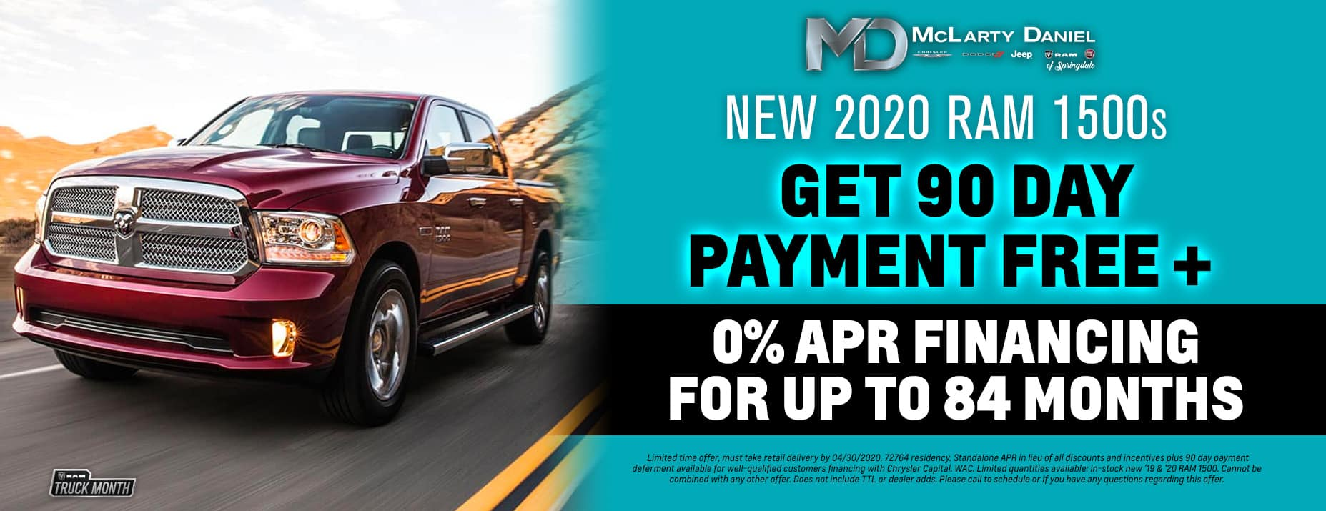 0/84 + 90 Days Payment Free on new RAM 1500!