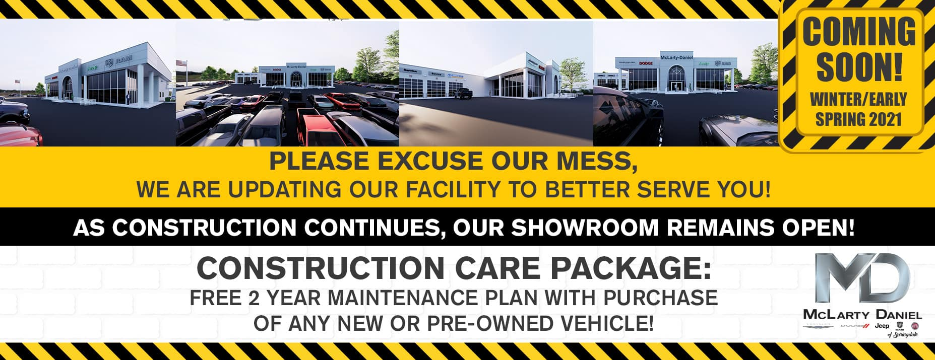 please excuse our mess, we are updating our facility to better serve you!
