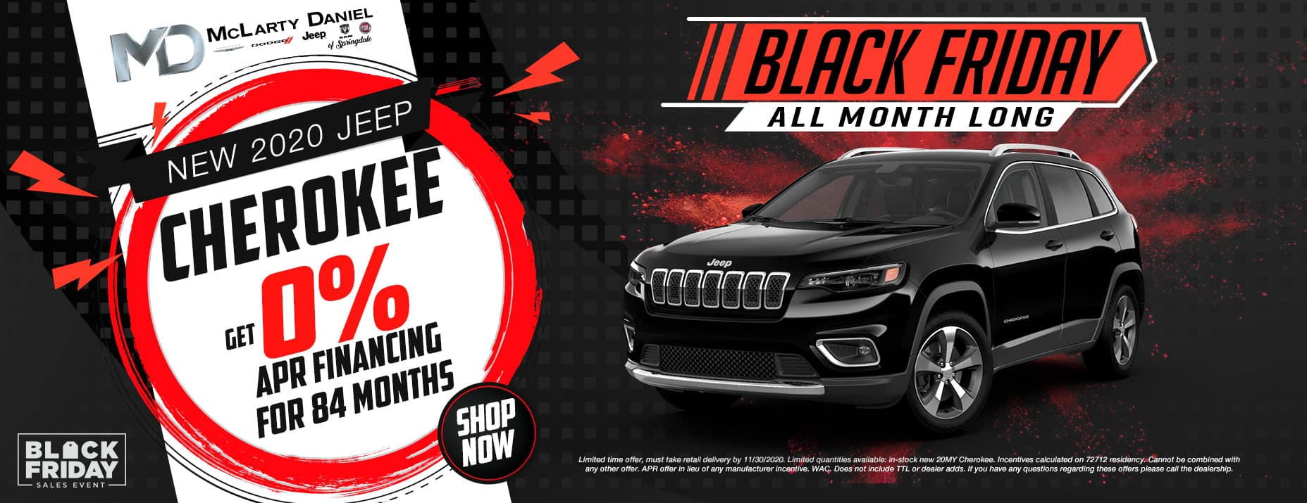 GET 0% FOR 84 MONTHS ON NEW CHEROKEE!