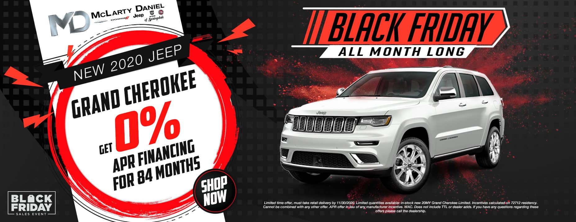 GET 0% FOR 84 MONTHS ON NEW GRAND CHEROKEE!