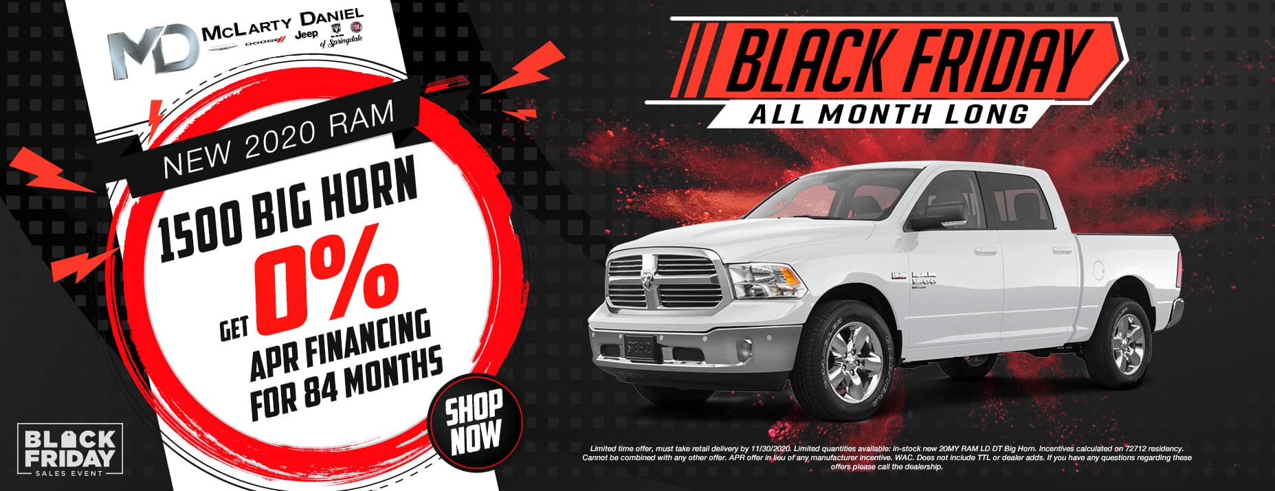 GET 0% FOR 84 MONTHS ON NEW RAM BIG HORN!