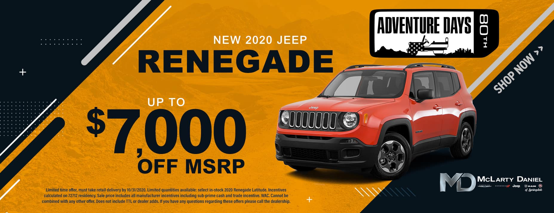 2020 JEEP RENEGADE - UP TO $7,000 OFF!