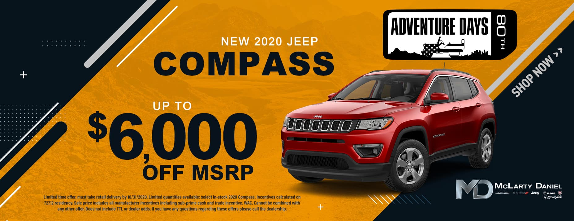 2020 JEEP COMPASS - UP TO $6,000 OFF!