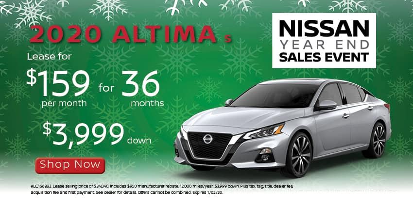 2020 Altima lease for 159 mo