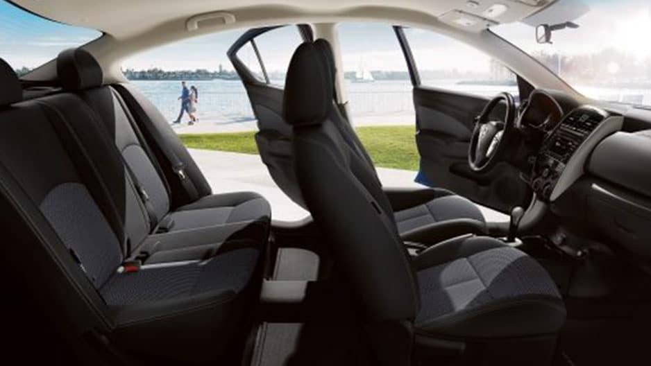 Interior Features of the New Nissan Versa Sedan at Garber in Bradenton, FL