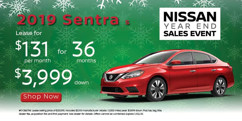 2019 Sentra lease for 131 mo