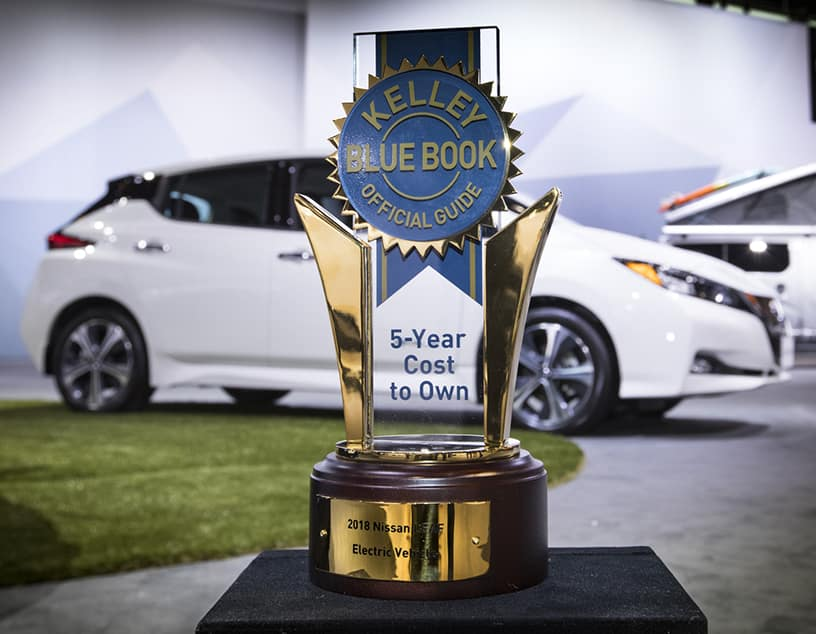 All new 2018 Nissan LEAF receives 'Lowest Cost to Own Award'