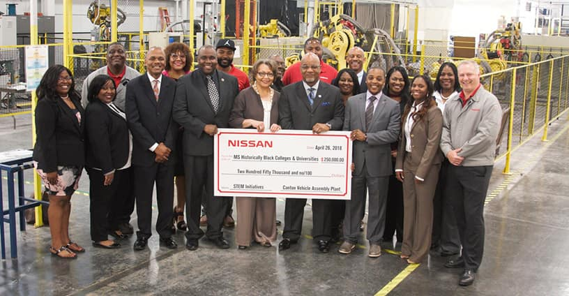 Nissan donates additional ,000 to Mississippi HBCU STEM programs